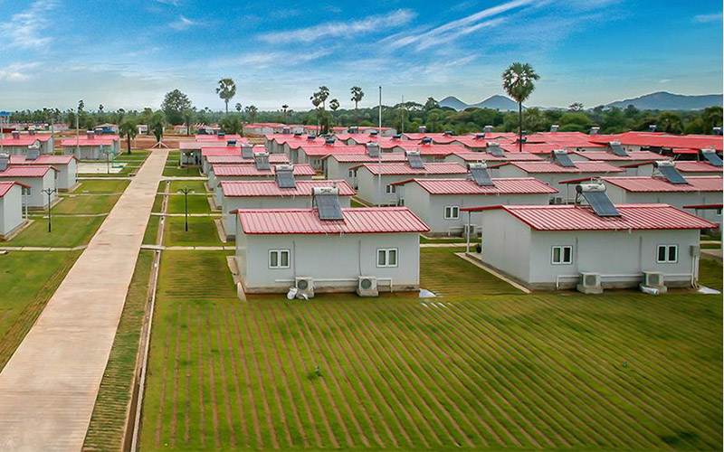 Economic prefab workers dormitory prefabricated k type house modular