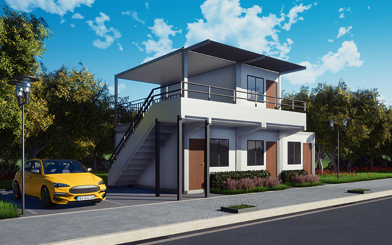 Simple assembly of modern container house / modular residential / prefabricated mobile homes